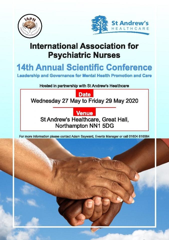 International Association for Psychiatric Nurses Conference 2020 @ St Andrew's Healthcare Northampton